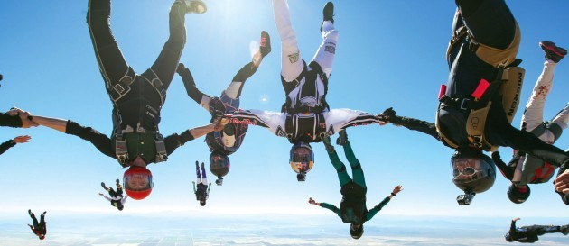 World Record Skydive - All-Female Skydivers Practice - Eloy, America
