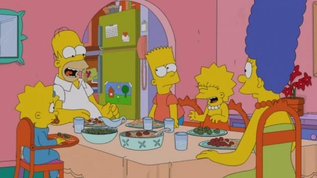 simpsons family dinner2
