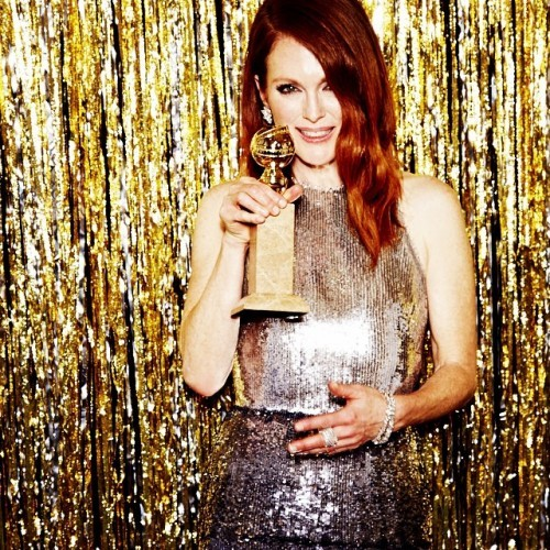 Julianne Moore -- Best Actress in a Motion Picture, Drama #goldenglobes (Photo by @ellenvonunwerth)