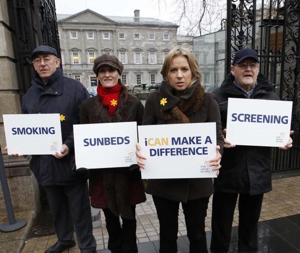 Frank Cox (lung) Sheona Foley (skin) Gillian O'Dowd (breast) and James Cluskey (bowel) 1