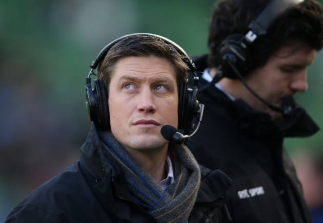 Ronan O'Gara working for RTE Television