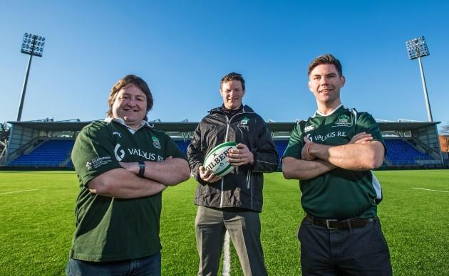 Shane Byrne, Malcolm O'Kelly and Liam Toland