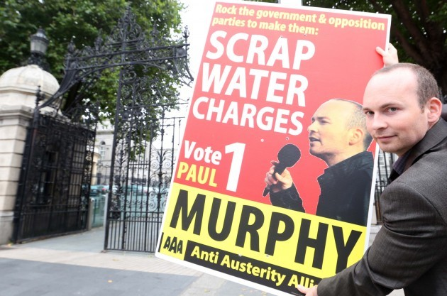 File Photo TD Paul Murphy has defended anti water charge protesters who targeted the President outside a Dublin school on Friday.