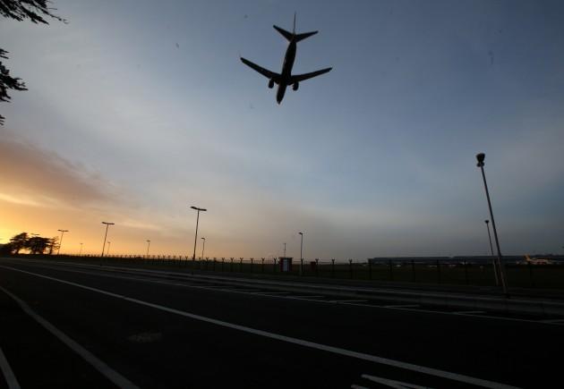 Dublin Airport. Pictured a plane commi