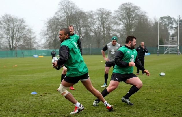 Simon Zebo and Marty Moore