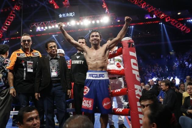 Macau Boxing Pacquiao Algieri