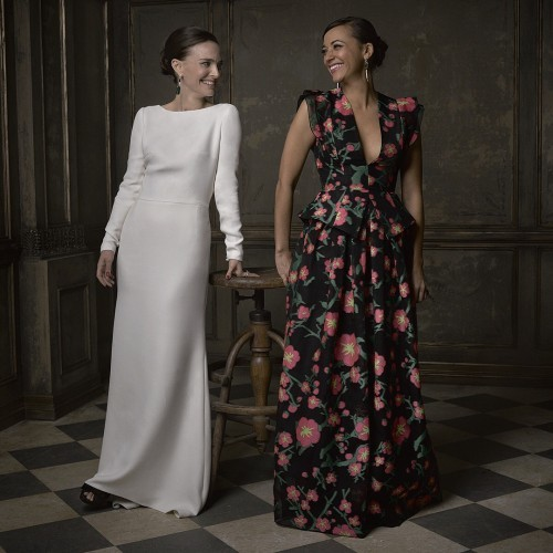 Vanity Fair on Instagram: Smiling swans! Here's Natalie Portman and Rashida Jones in @markseliger's #vfoscarparty portrait studio!