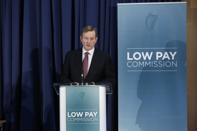 Low Pay Commission. Pictured is An Taoi