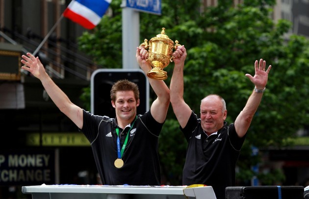 Rugby Union - Rugby World Cup 2011 - New Zealand Victory Parade - Auckland
