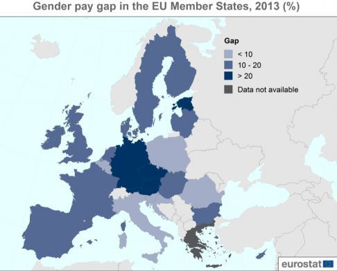 Irish Men Are Still Being Paid A Whole Lot More Than Irish Women - Us wage gap map