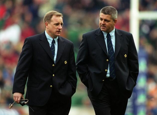 Eddie O'Sullivan and Warren Gatland 5/2/2000