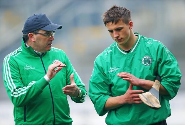 Ger O'Loughlin with Robbie Hanley