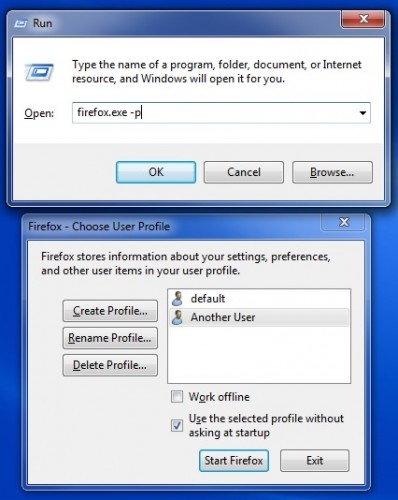 how to run firefox and waterfox at the same time