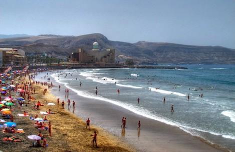 Verano en La Playa de Las Canteras Las Palmas de Gran Canaria (Agosto de 2013)