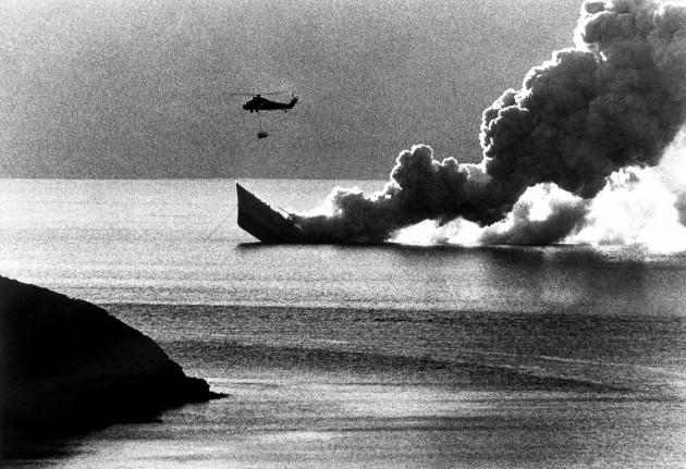 The Falklands War - The Royal Navy - HMS Antelope - Ajax Bay - 1982