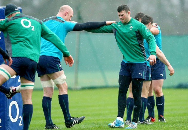 Paul O'Connell and Robbie Henshaw