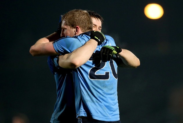 Davey Byrne and Daithi O'Cathmhaoil celebrate