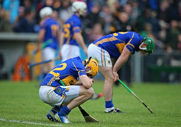 A dejected Shane McGrath
