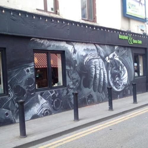 Irish graffiti. I felt oddly like the big gloved