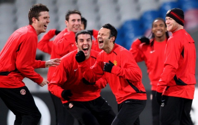 Soccer - Manchester United Training Session - Stade Gerland