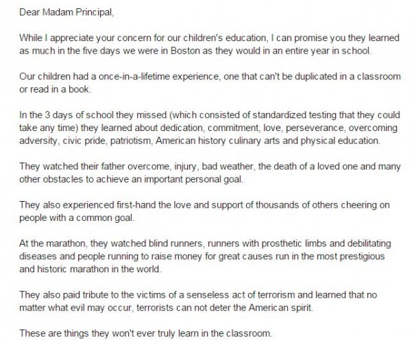 Dad Writes Excellent Letter To Principal Defending ChildrenS