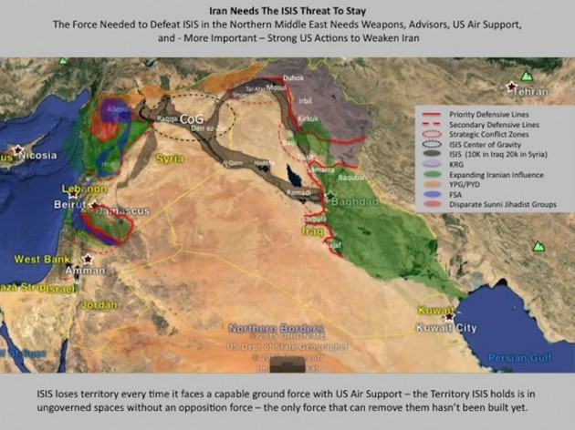 This map proves that iran doesnt really want to defeat isis in source michael pregent gumiabroncs Images