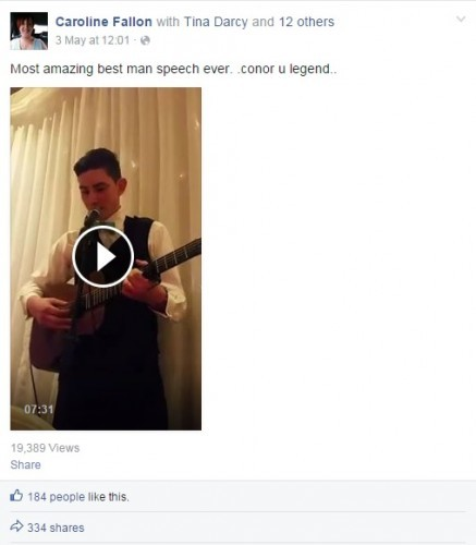 This Irish Lad Pulled Off An Epic Best Man Speech For His