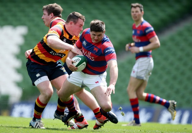 Peter Dooley tackles Karl Moran