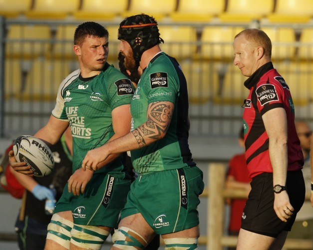 Eoghan Masterson after scoring a try