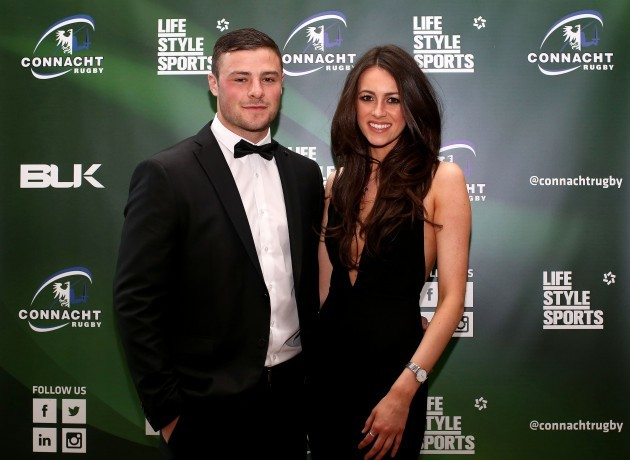 Robbie Henshaw and Sophie Marron