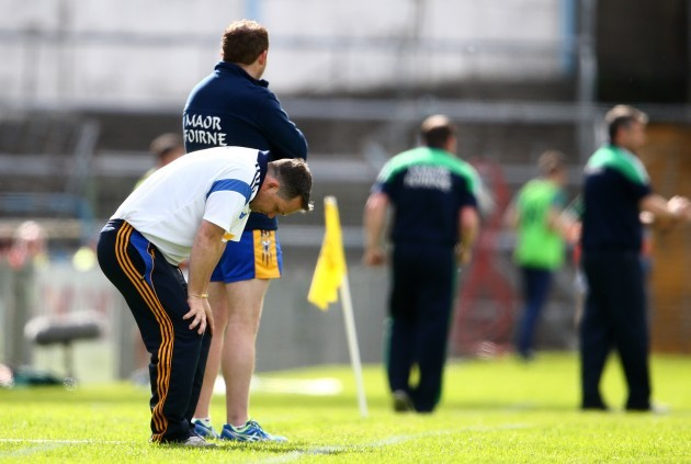 A dejected manager Davy Fitzgerald