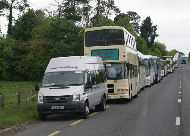 Private buses and coaches Slane 2011