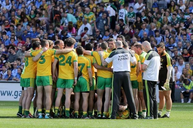 A general view of the Donegal team