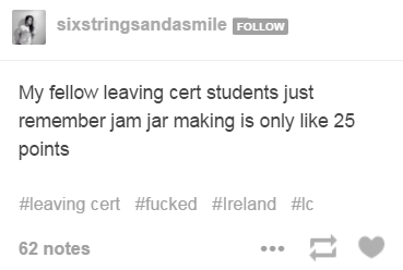 16 ways this years junior and leaving certs are the funniest fkers jam ambitions ccuart Image collections