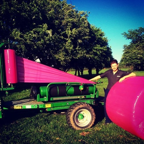 New colour now available! #WrapItPink #IrishCancerSociety #Dairygold #Healthcare #CancerAwareness #Health #Donate #Farm #Summer #Silage #Haylage #Farming #McHale #Wrapper #Bales #Pink #FieldsOfPink #GetBehindAGoodCause