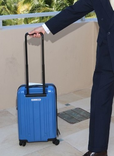 You might want to buy some new airplane carry-on luggage…