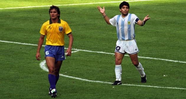 Soccer - World Cup Italia 1990 - Second Round - Argentina v Brazil - Stadio Delle Alpi