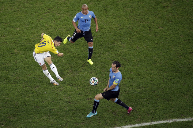 Brazil Soccer WCup Colombia Uruguay