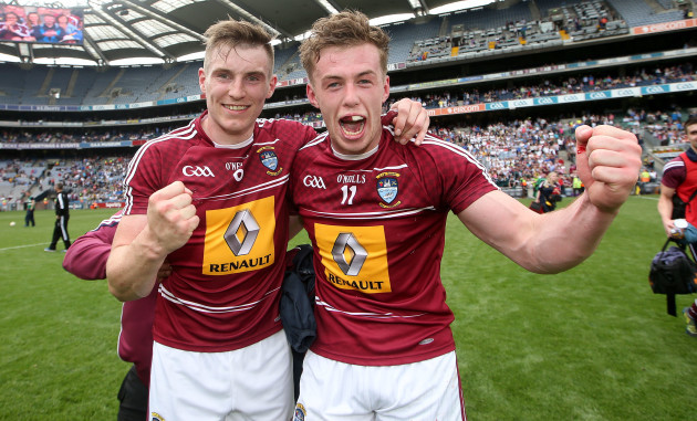 Kieran Martin and Ger Egan celebrates after the game
