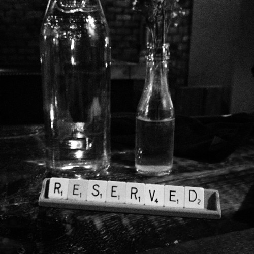 Have some decorum please for heaven's sake #reserved #mulligansgrocer #scrabble #dublin7 #stoneybatter #monochrome