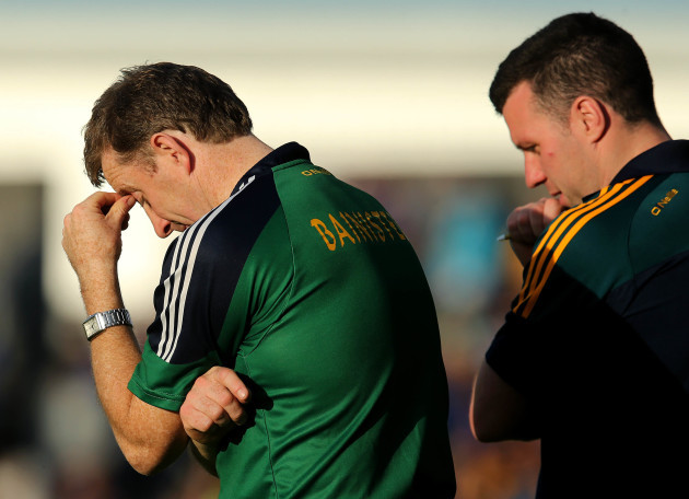 Brian Whelahan dejected near the end of the game