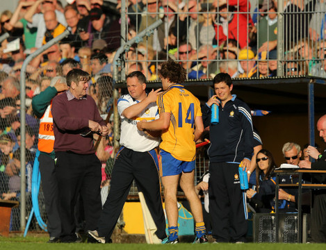 Davy Fitzgerald with Shane O'Donnell