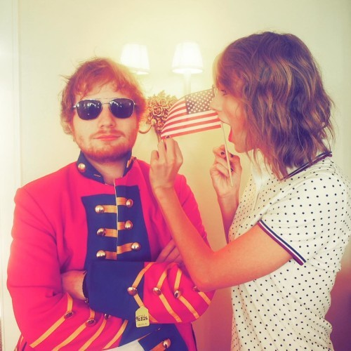 Taylor Swift on Instagram: When Ed shows up in a red coat for the 4th of July because he just can't let it go. @teddysphotos