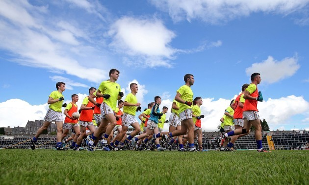 The Tipperary minors make their way in from the warm up