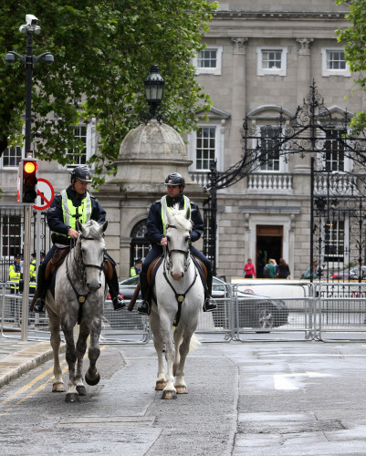 7/7/2015 Garda - Leinster House. Pictured a heavy
