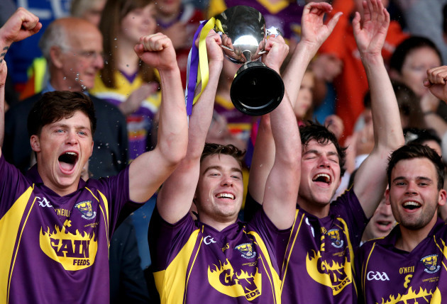 Eoin Conroy lifts the trophy