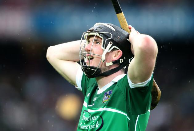 A dejected Declan Hannon