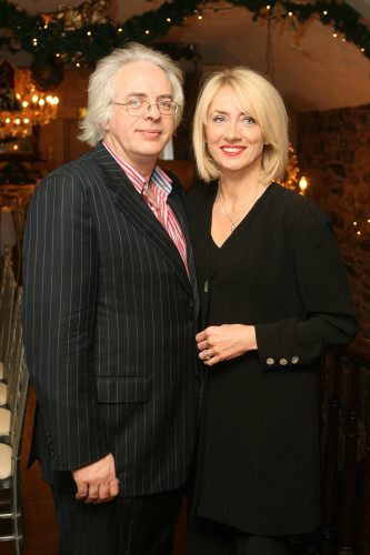 . 4/12/2009.Anglers Rest Charity Lunch.  L to R. Frank Mc Namara and Theresa Lowe are pictured at the lunch hosted by Michael Wright at his Anglers rest restaurant in aid of Pieta house. Picture James Horan/Photocall Ireland