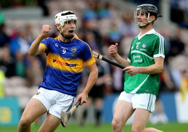 Liam McCutheon celebrates an early score