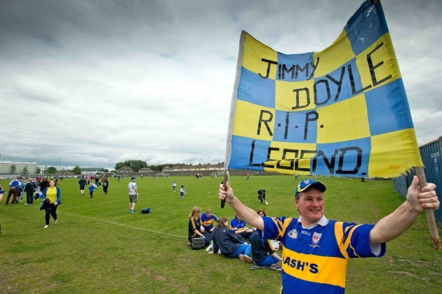 Michael O'Connor from Killenaule, Co. Tipperary before the game